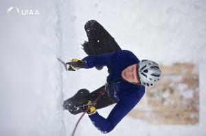 Pavel Batushev the fstest man on ice in Busteni, Romania